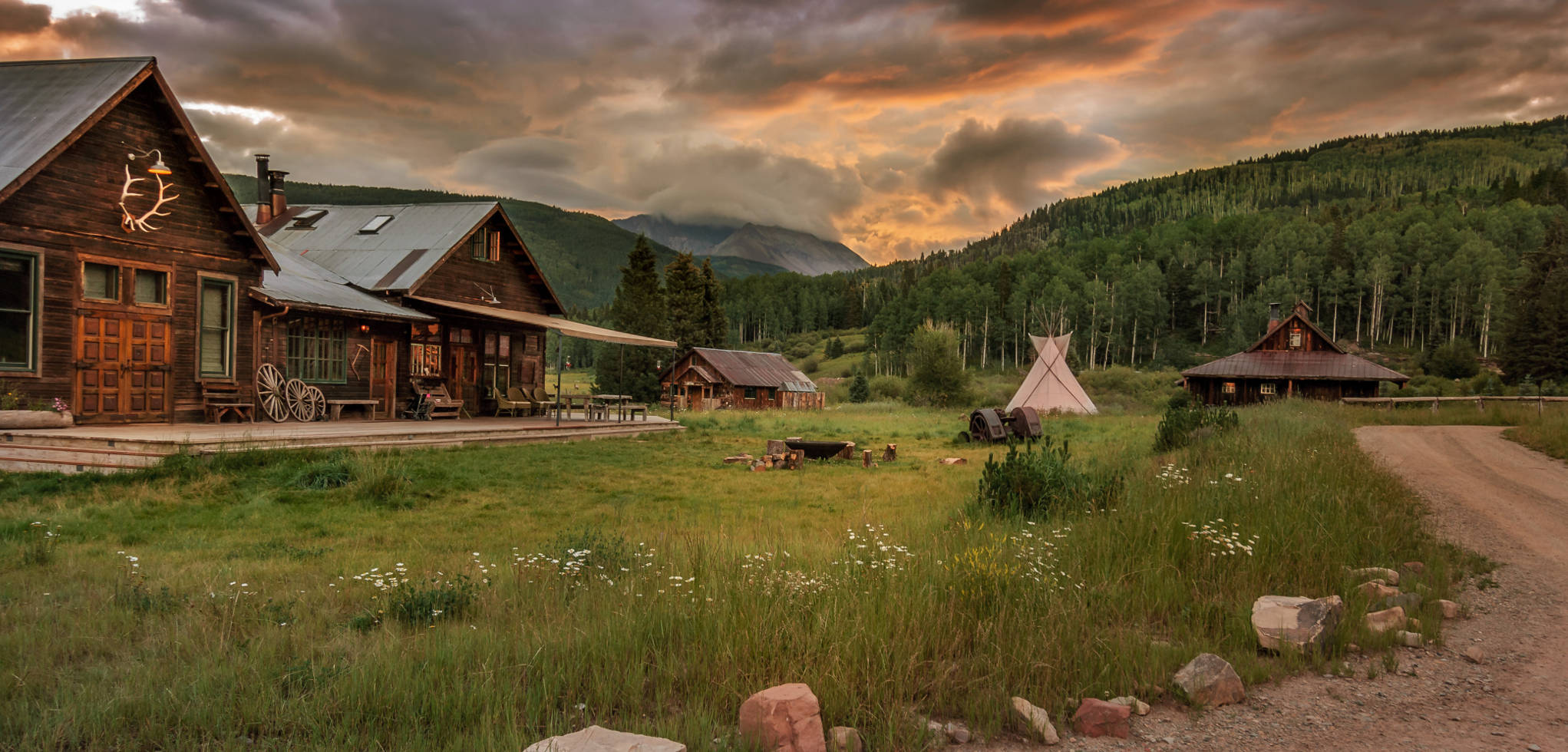 Dunton Hot Springs, Colorado:  A rustic-luxe collection of cabins, set in a former ghost town in the beautiful Colorado countryside.