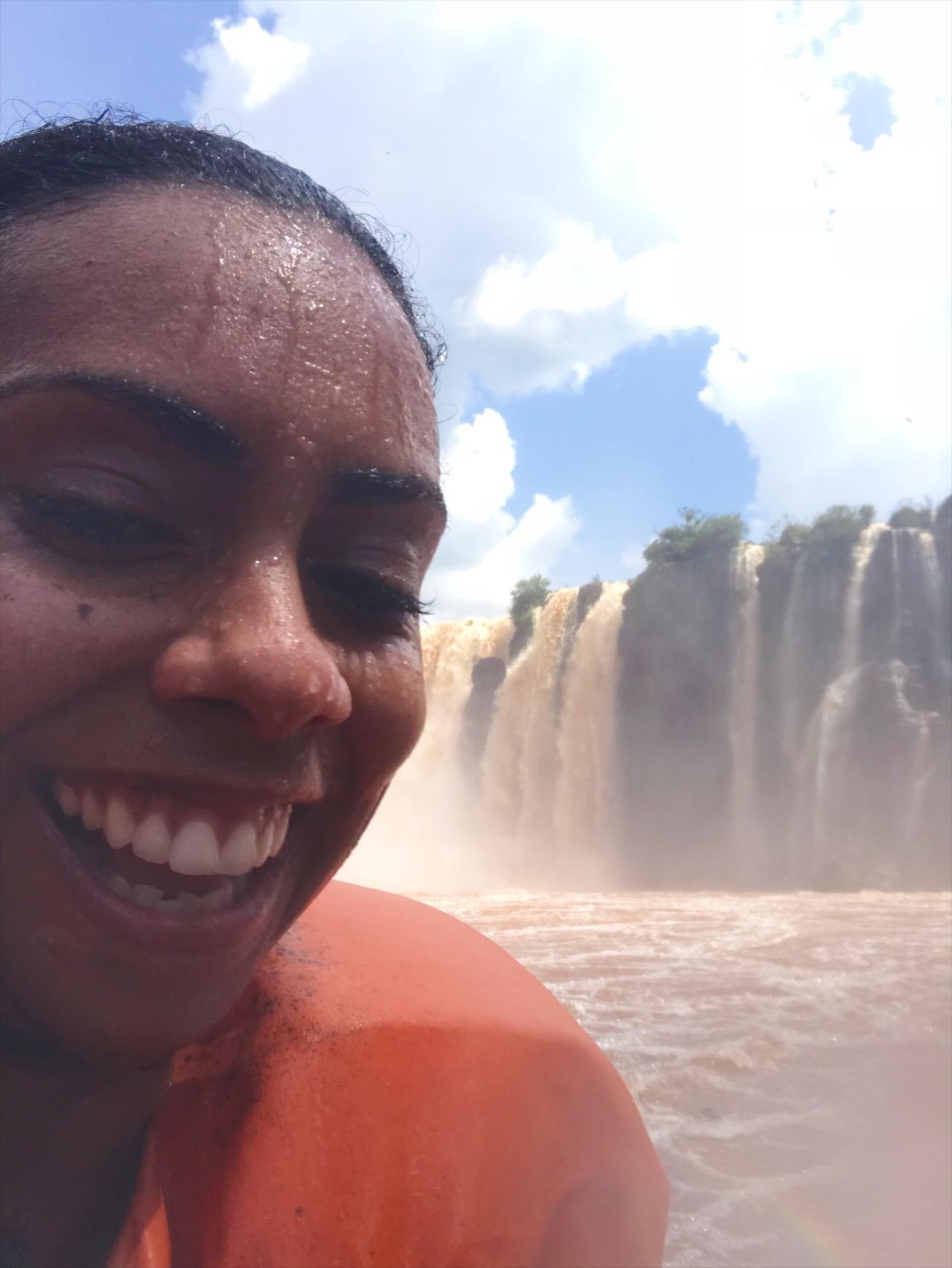 A boat ride at Iguazu falls