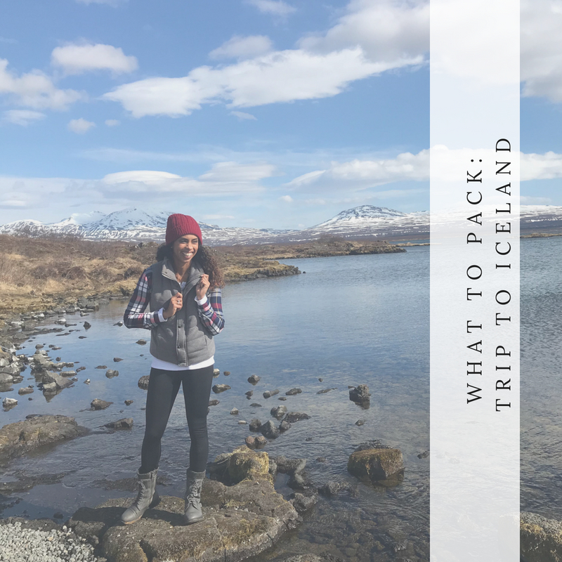 What to pack for a trip to Iceland in the spring or fall