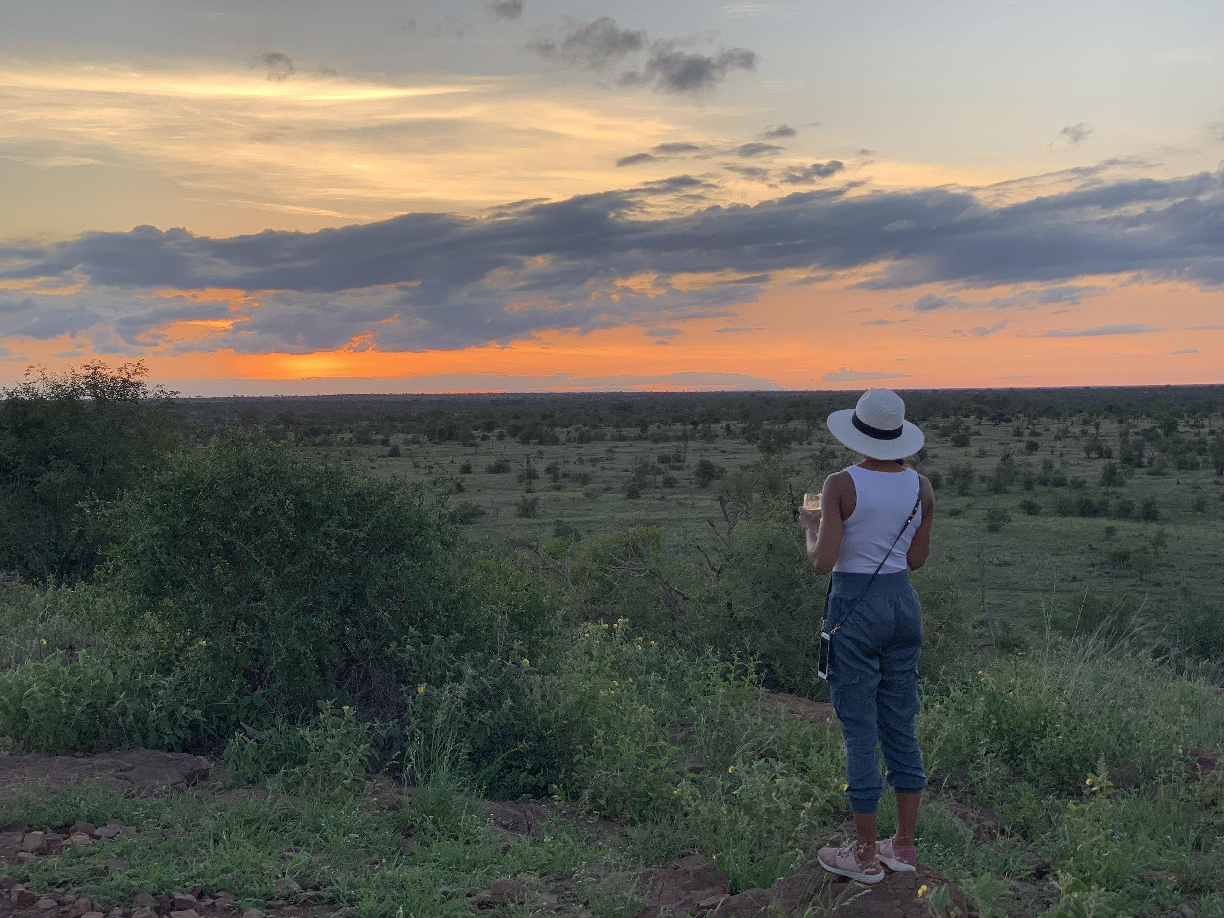 Sundowner on Safari