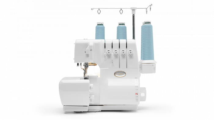 The Eclipse serger has air threading of loopers. - Pick up our floor model Eclipse for just $899.99.