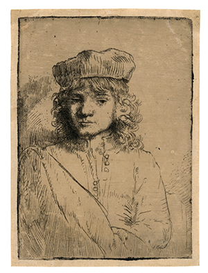 Rembrandt Etching on Echizen Washi / Rembrandt House Museum