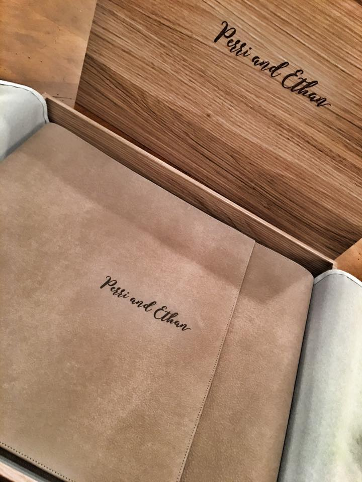 Vintage Album in Wood Box