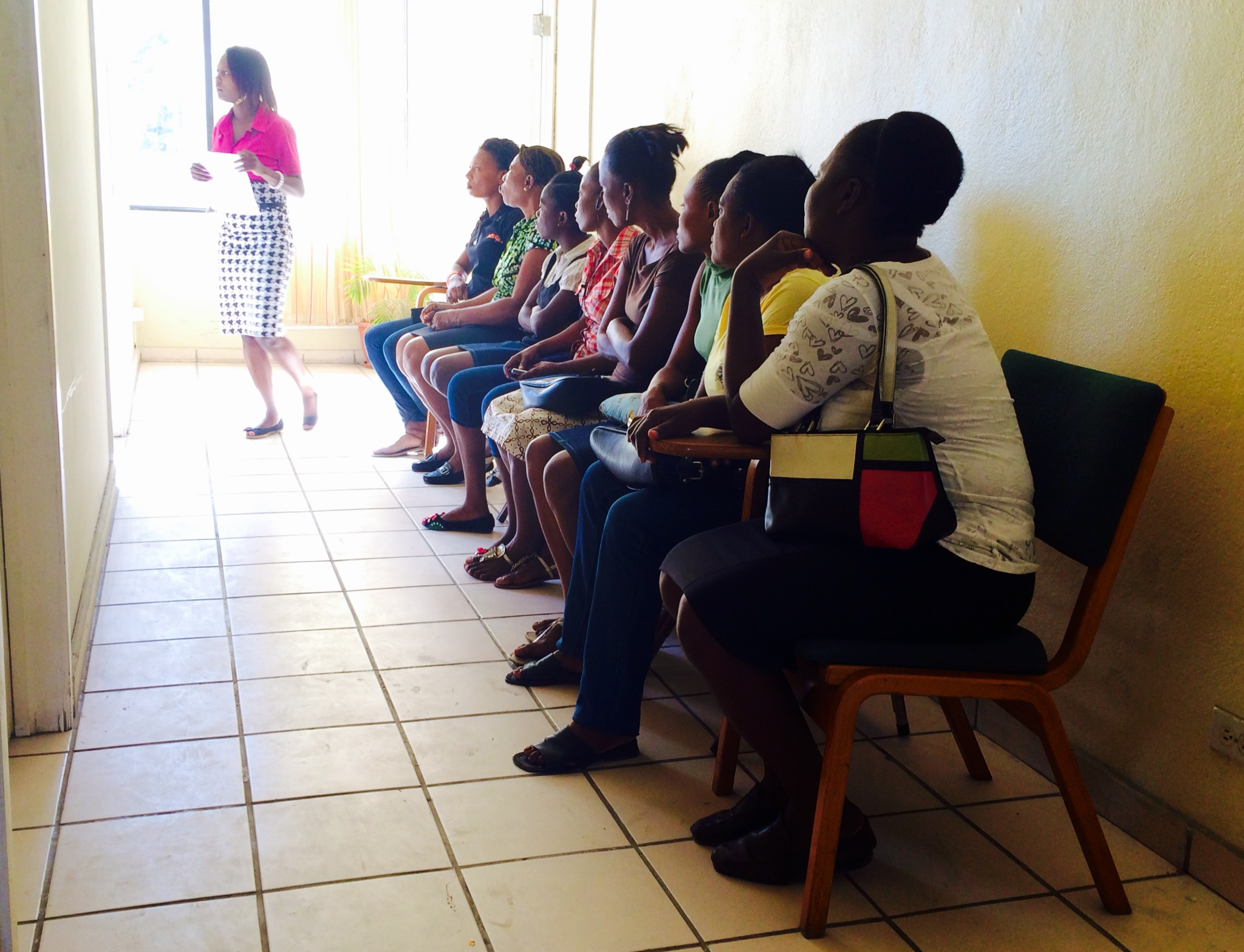 Women waiting patiently for their screening ultrasound