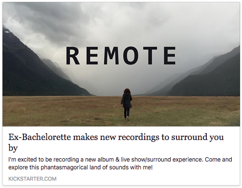 My musical hero and fellow kiwi needs you!  https://www.kickstarter.com/projects/particletracks/ex-bachelorette-makes-new-recordings-to-surround-y