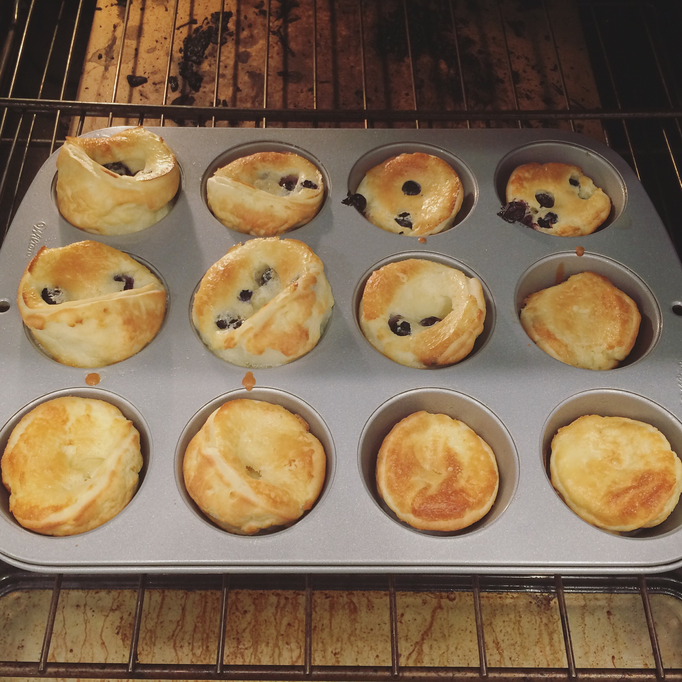 Same batter, just poured in muffin pans. It worked just the same and the kids loved the little personal size!
