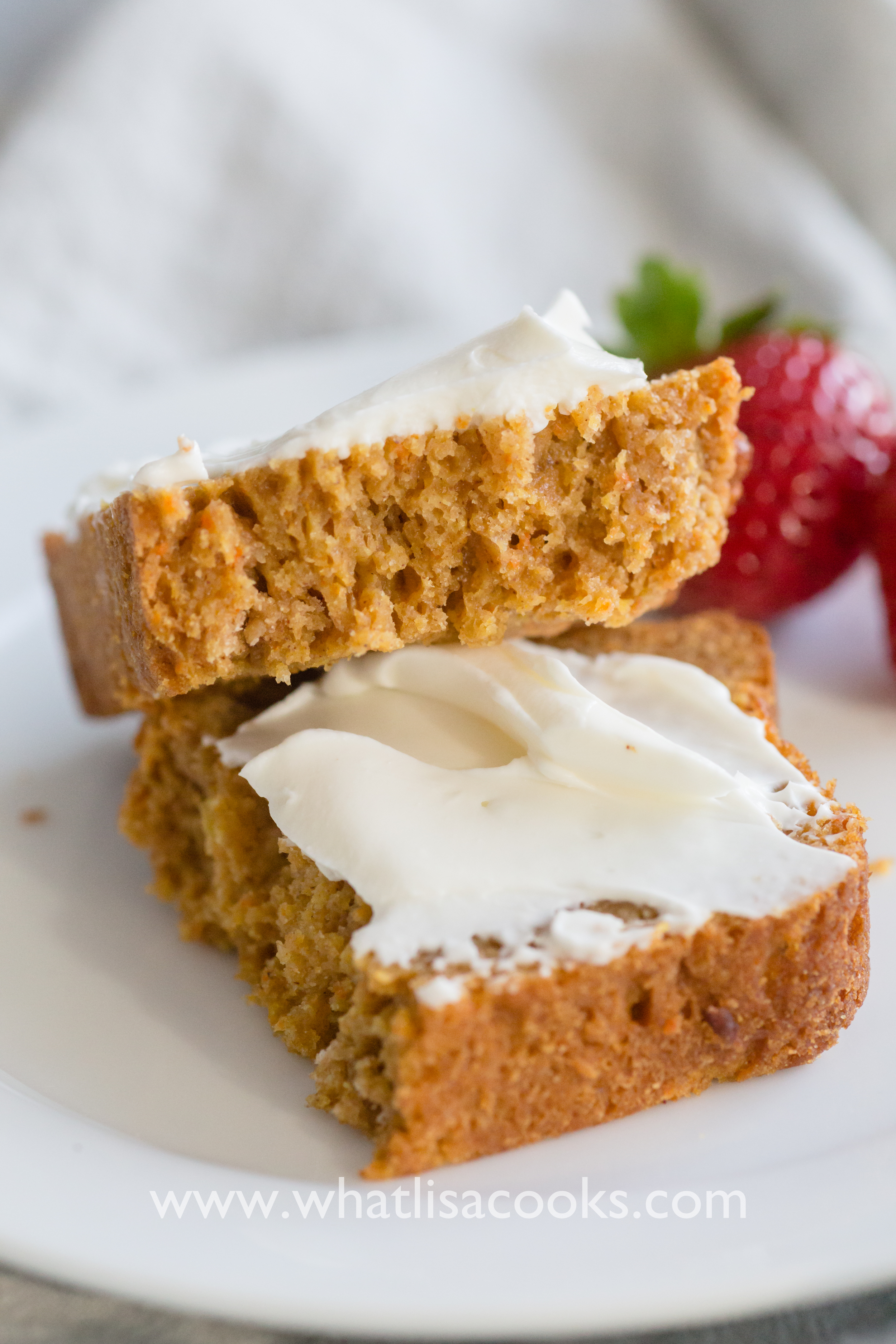 Carrot + Apple bread, with cream cheese.