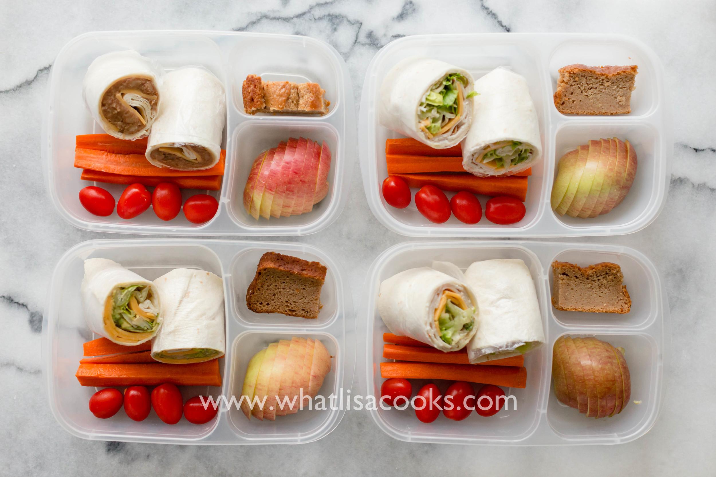school lunch - tortilla wraps | whatlisacooks.com
