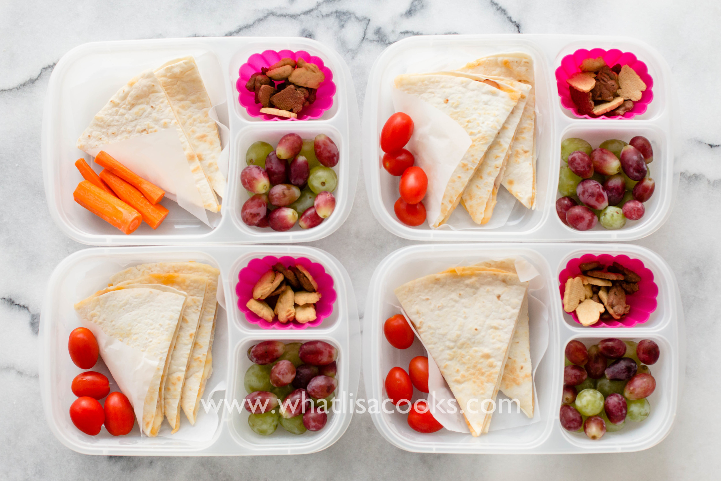 Easy school lunch idea: make quesadillas the night before. whatlisacooks.com