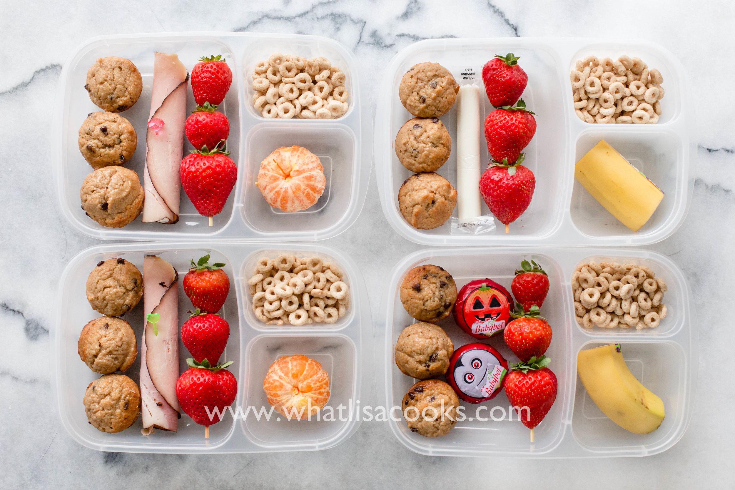 Easy breakfast for lunch idea. School lunch by WhatLisaCooks.com