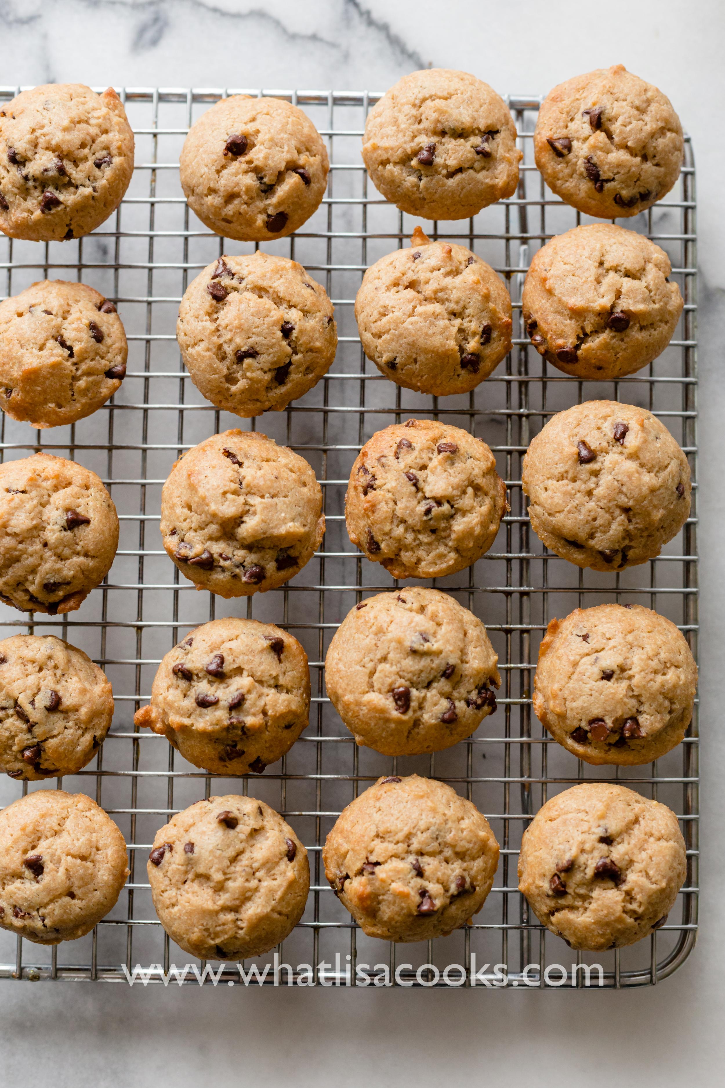 Banana chocolate chip mini muffins.