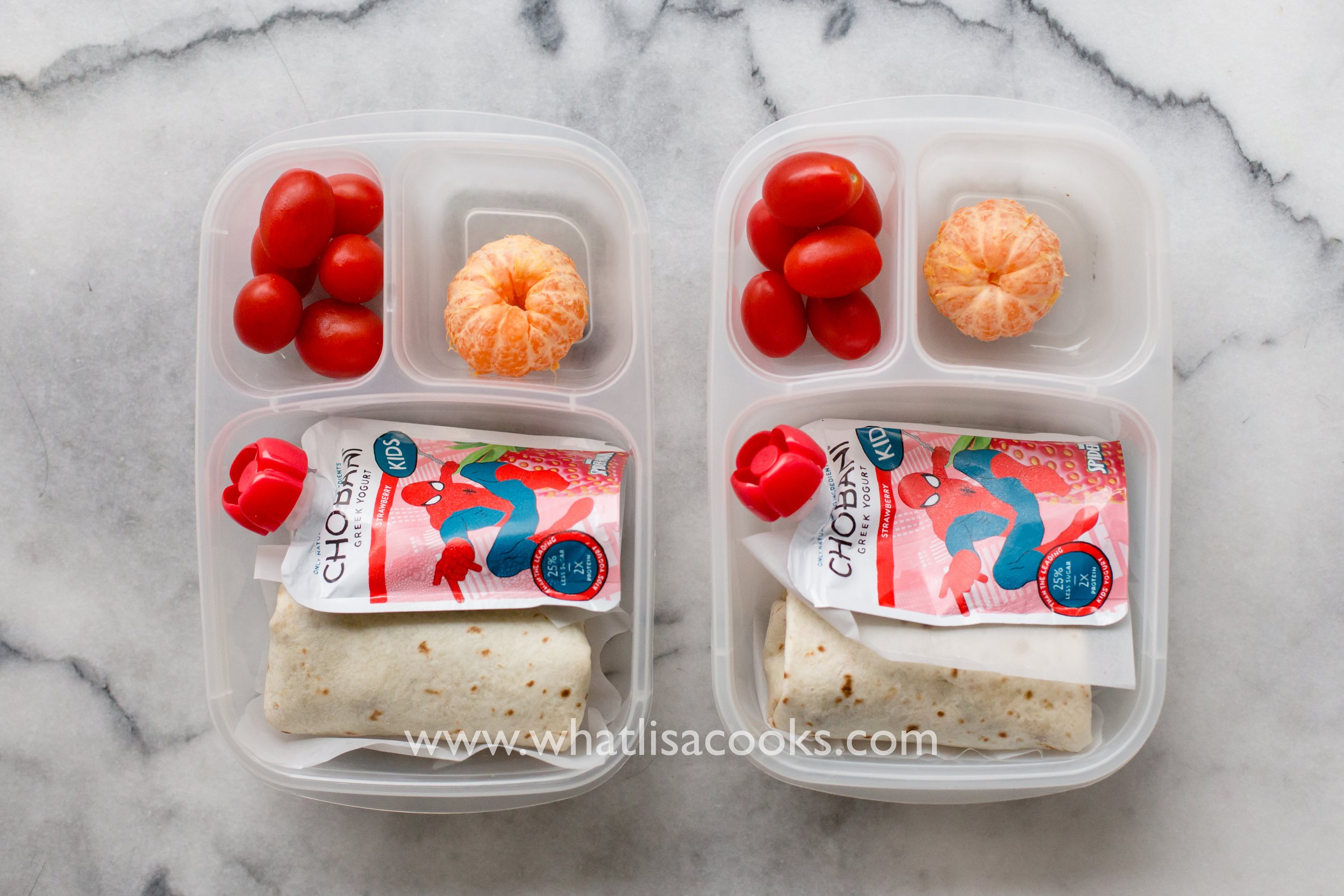 Easy school lunch idea: burritos. from WhatLisaCooks.com