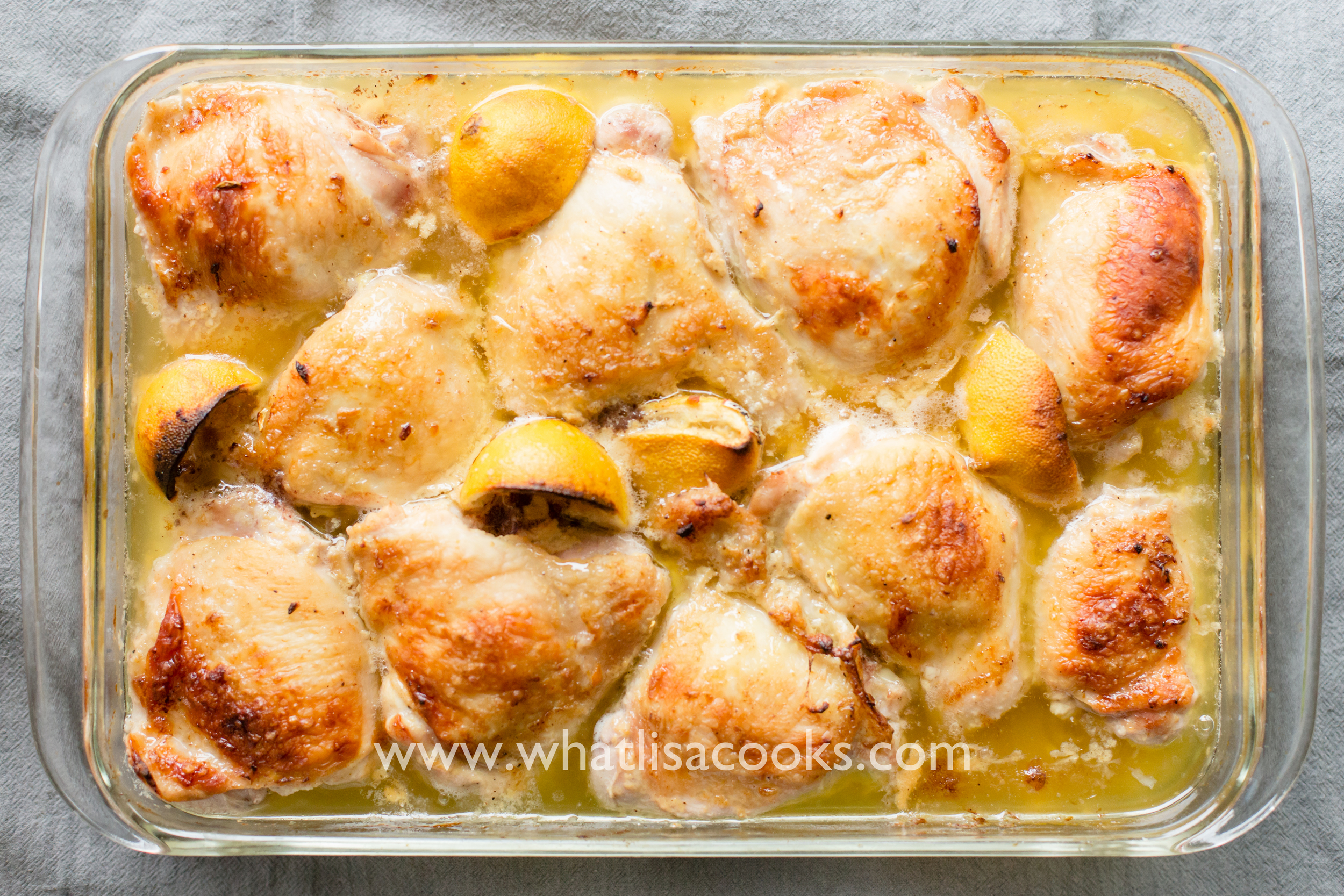 Easy Weeknight Lemon Dijon Chicken Thighs   WhatLisaCooks.com