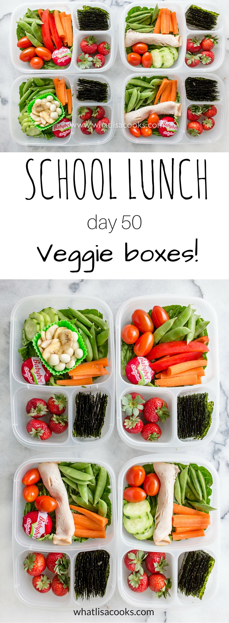A bright and fresh school lunch box full of veggies - from WhatLisaCooks.com