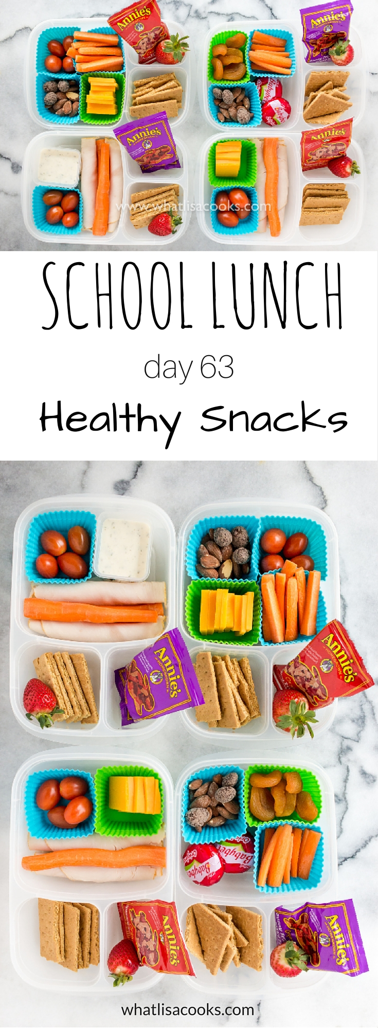 School lunch day 63: easy and healthy snack boxes from WhatLisaCooks