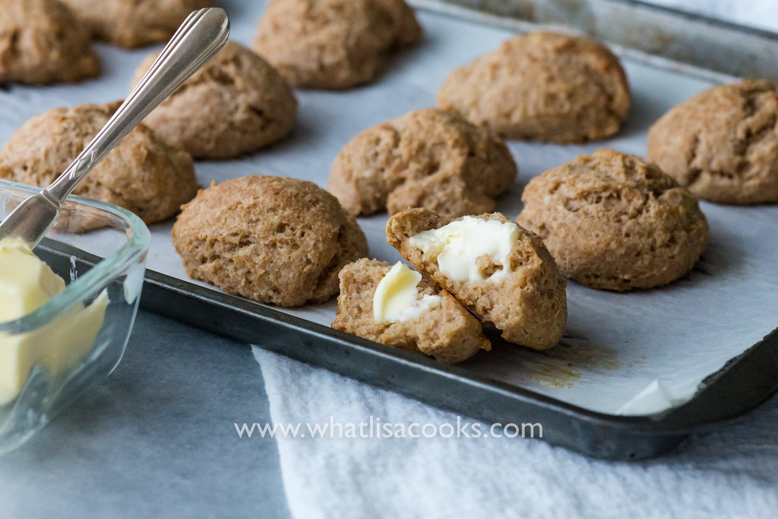 Easy 5 minute drop biscuits from WhatLisaCooks.com