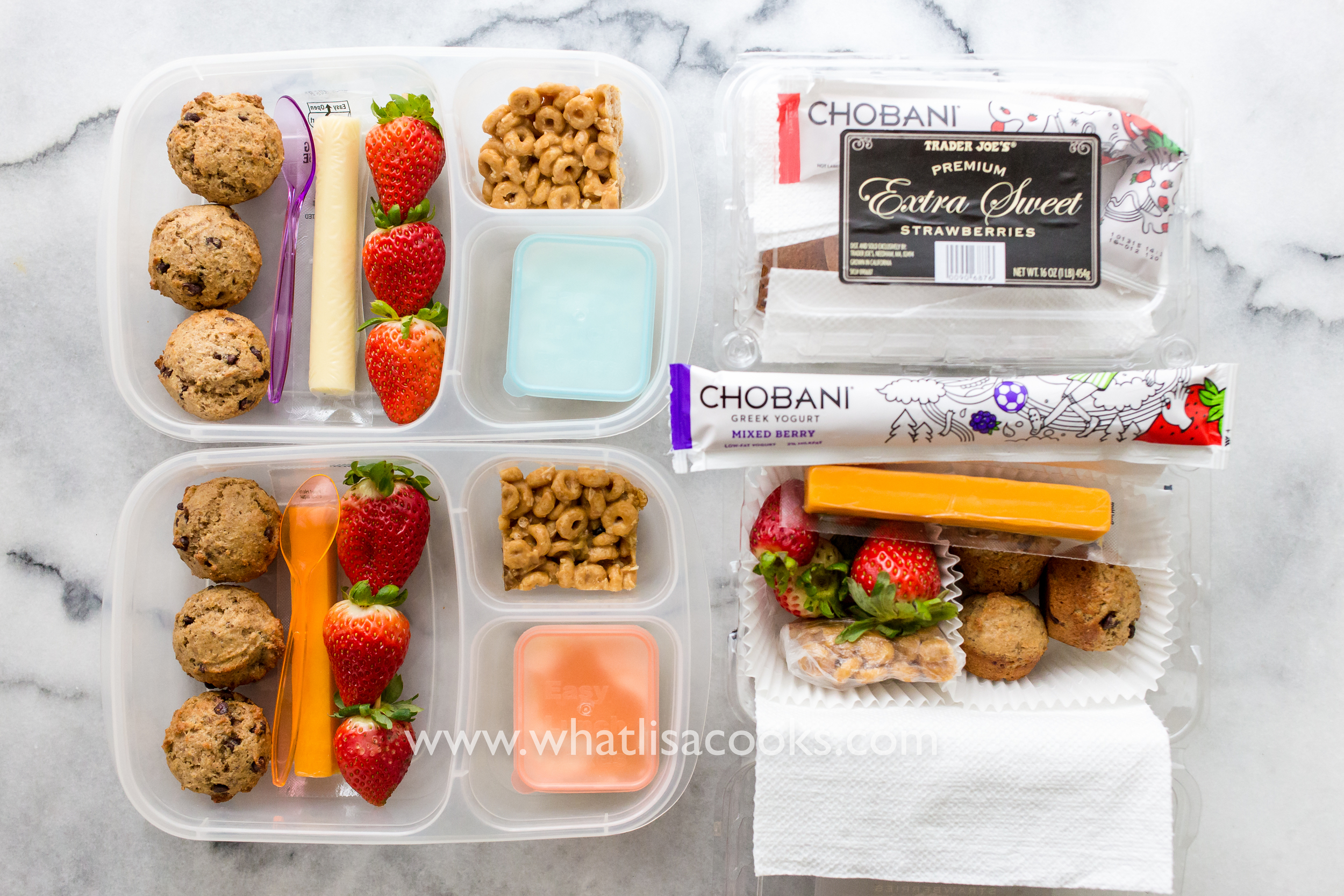 School Lunch Day 69: Muffins & Yogurt