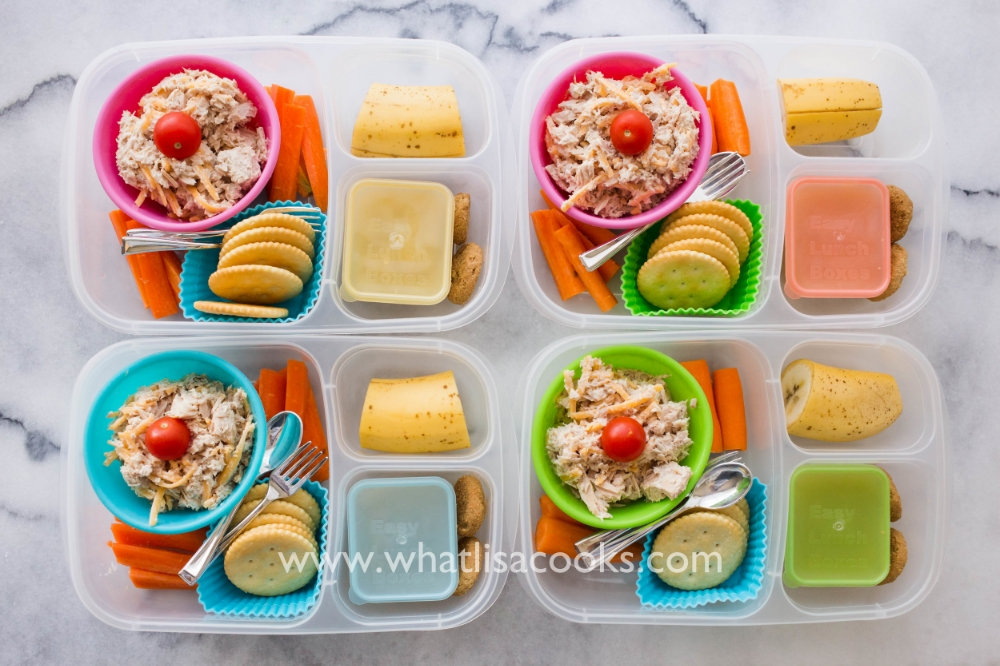 Easy tuna salad lunch box.