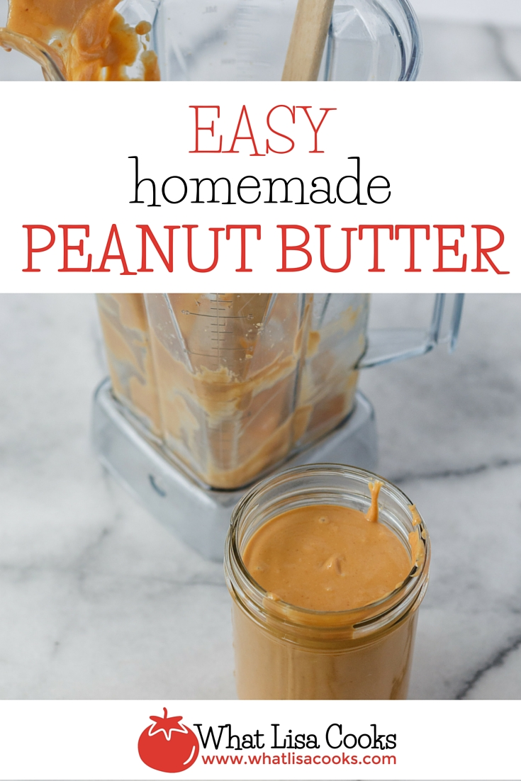 once you've had homemade peanut butter, you might never want to go back - it's so easy and so delicious. from WhatLisaCooks.com