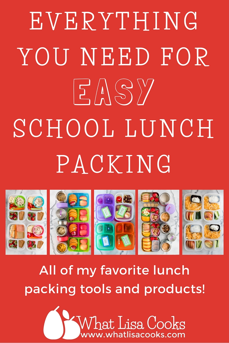 Everything you need for each school lunch packing!