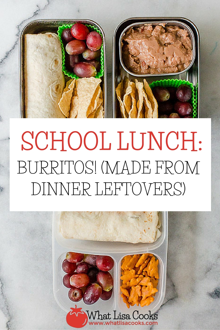 Easy school lunch idea - pack up taco tuesday leftovers for the kids to take for lunch! WhatLisaCooks.com