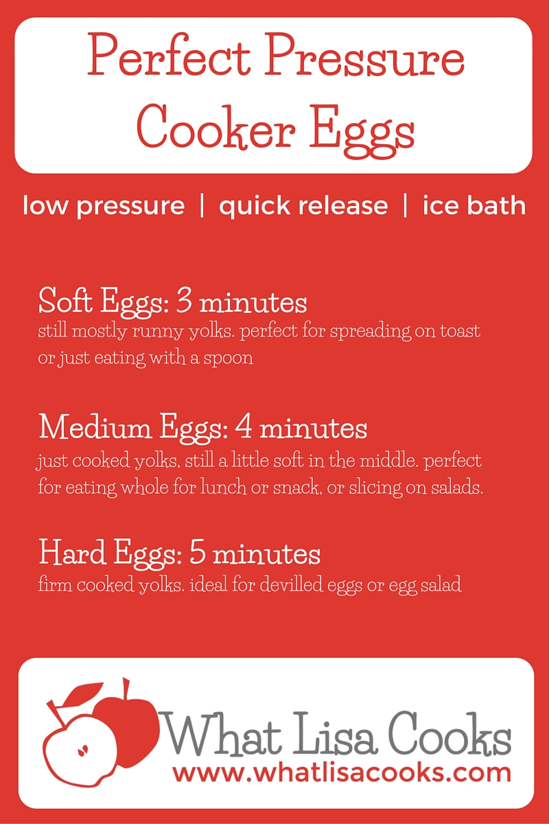Just in time for Easter! Easy instructions for how to cook perfect eggs in your pressure cooker every time. from WhatLisaCooks.com