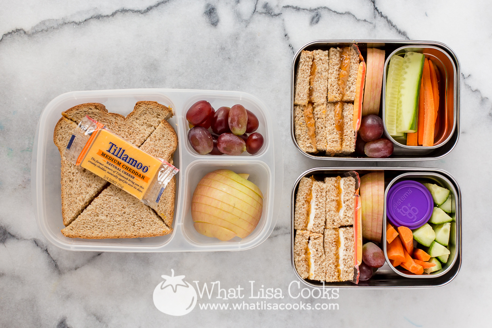easy sandwiches with homemade jam for packed school lunch - from WhatLisaCooks.com