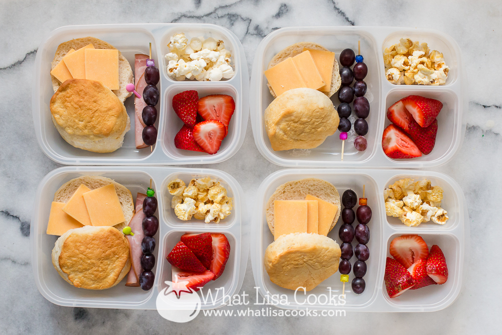 biscuits with cheese and fruit