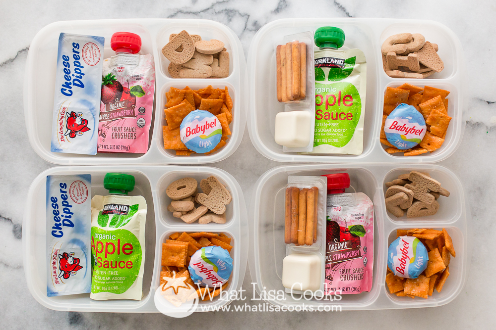 lunch box of snacks: whatlisacooks.com