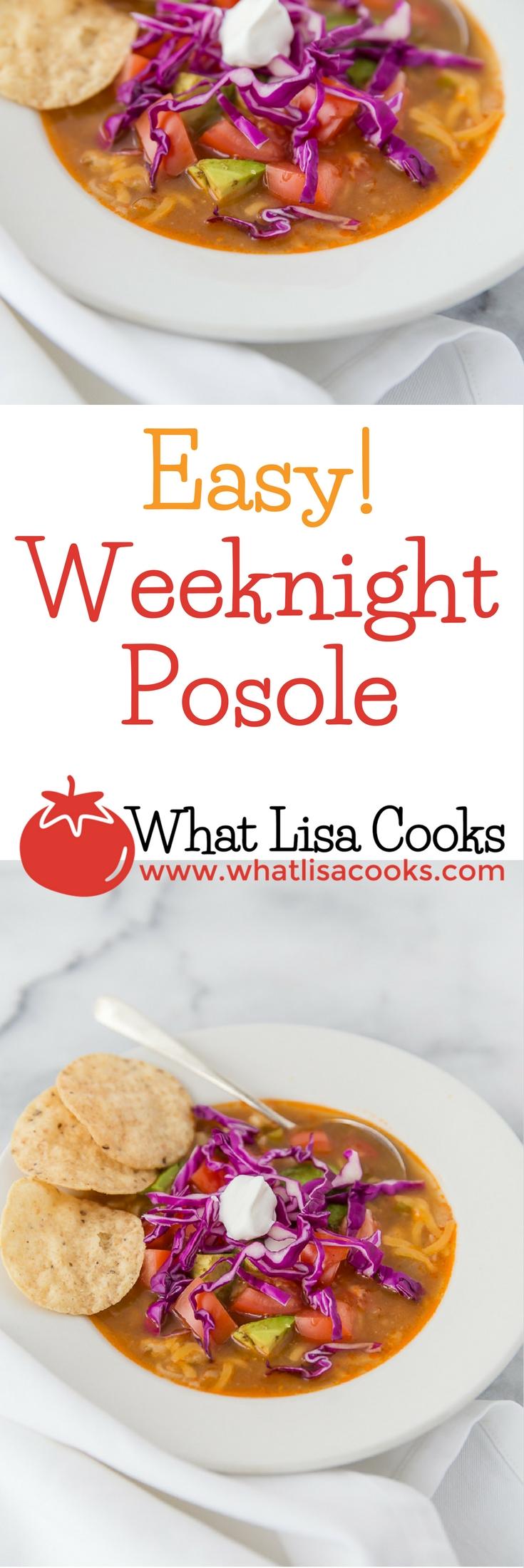 Easy Weeknight Posole Recipe | WhatLisaCooks.com