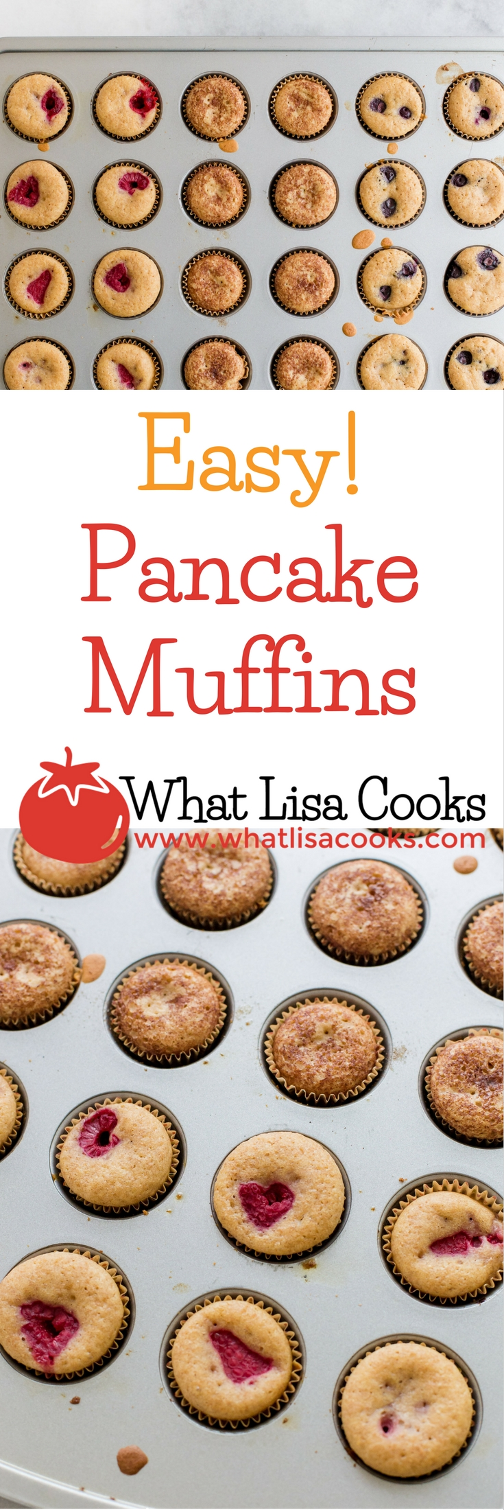 Make muffins from pancake batter! www.whatlisacooks.com
