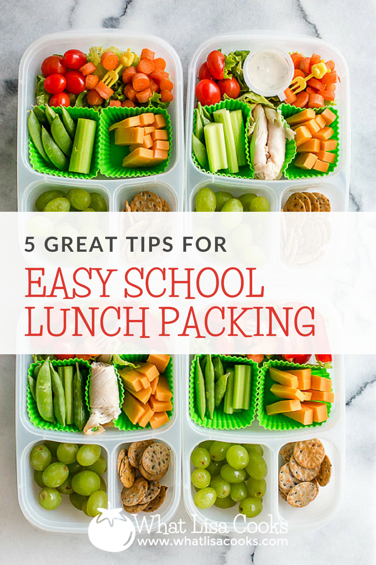 Five great tips for easy school lunch packing - from whatlisacooks.com