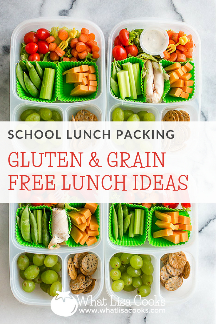 Gluten free and grain free school lunch packing ideas - from whatlisacooks.com
