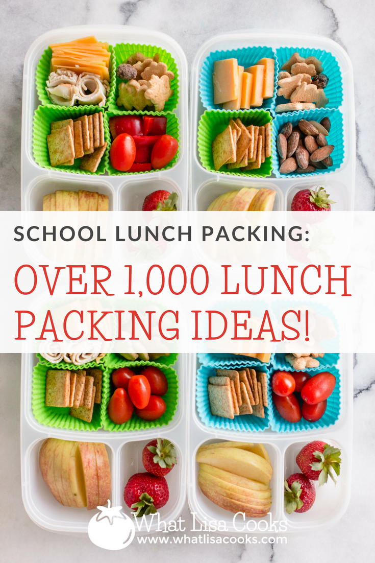 Lunch Packing Ideas - over 1,000 packed school lunches, from whatlisacooks.com; school lunches; easy lunch packing