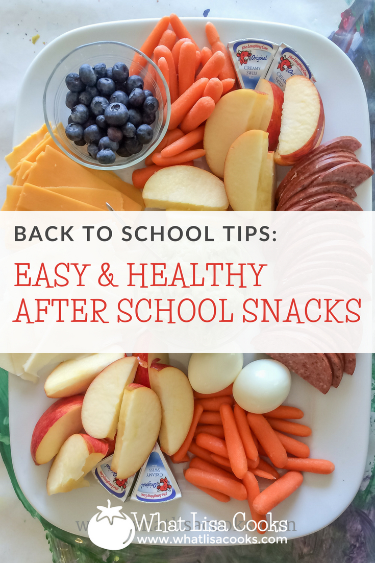 Easy and healthy after school snacks - back to school tips from whatlisacooks.com