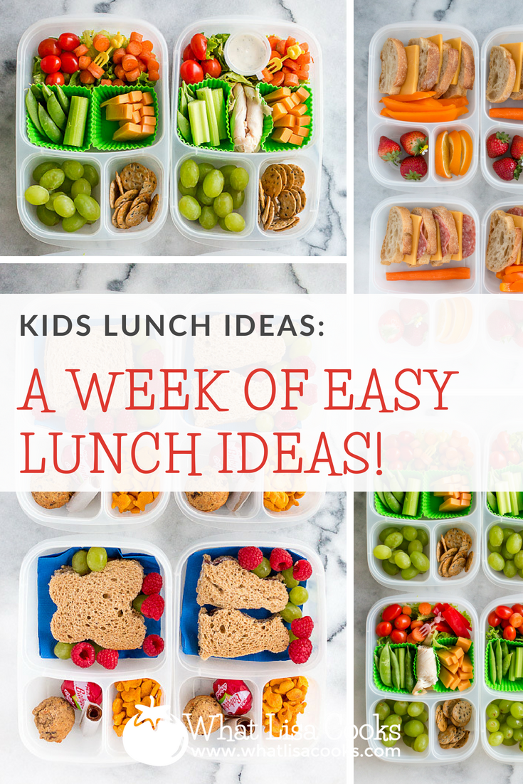 a week of easy lunch ideas for kids, from whatlisacooks.com