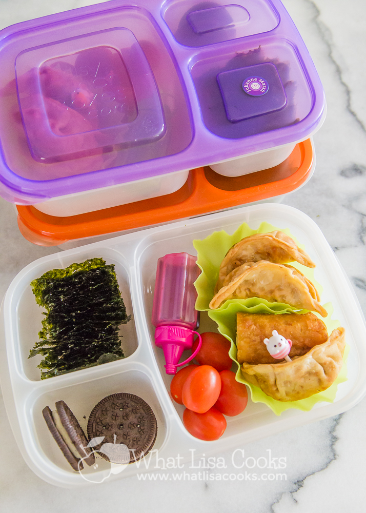 Packed school lunch ideas from WhatLisaCooks.com. School Lunch. Non sandwich lunch. Kids lunch ideas.