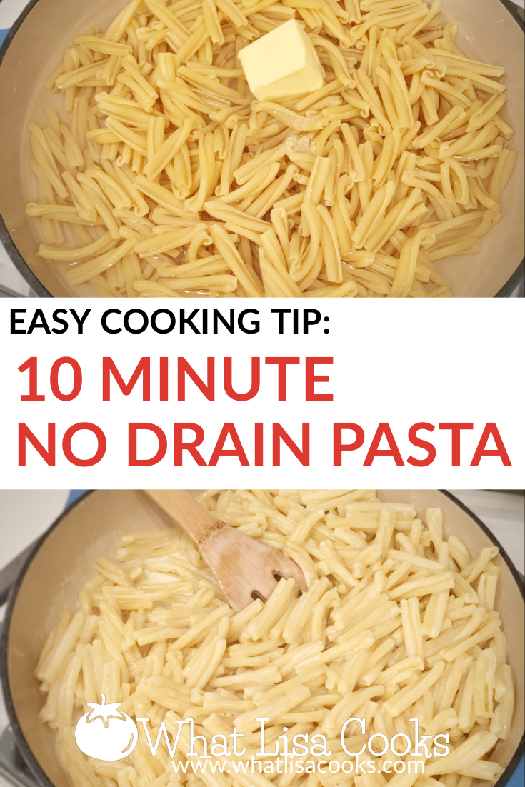 Easy pasta hack from whatlisacooks.com - 10 minutes, no draining. Dinner is done.
