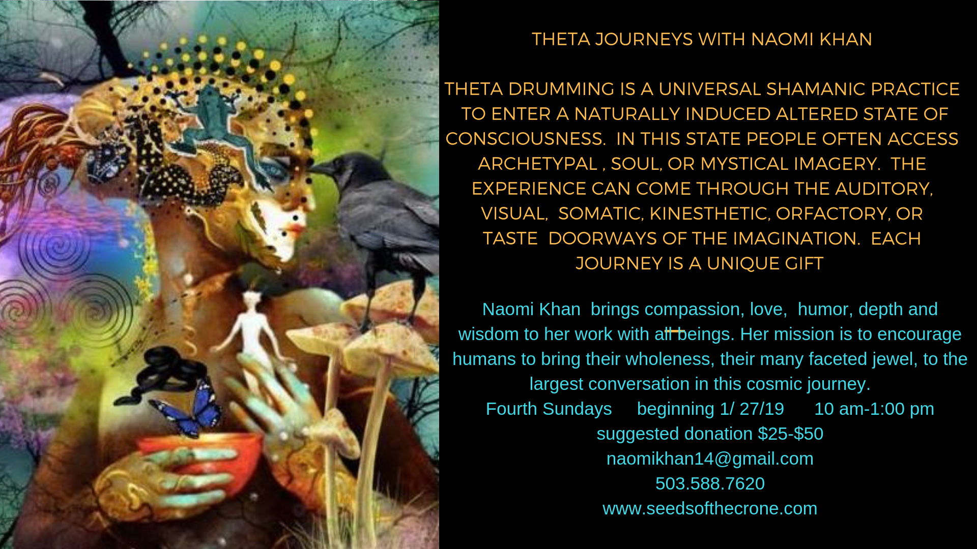 Theta Journeys-Naomi Khan  Fourth Sundays