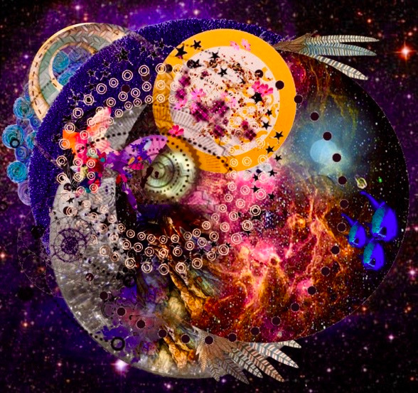 Three Day Immersion- With Jacob Stein and Naomi Khan        off we Go/ collage art by Naomi Khan