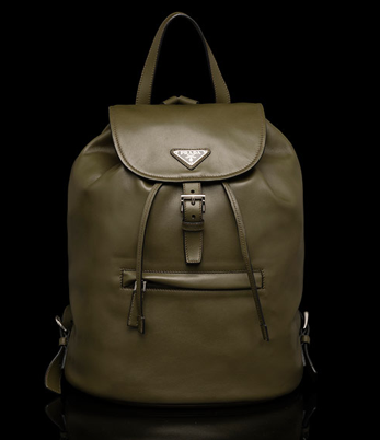 Military Green Prada backpack: $1,930