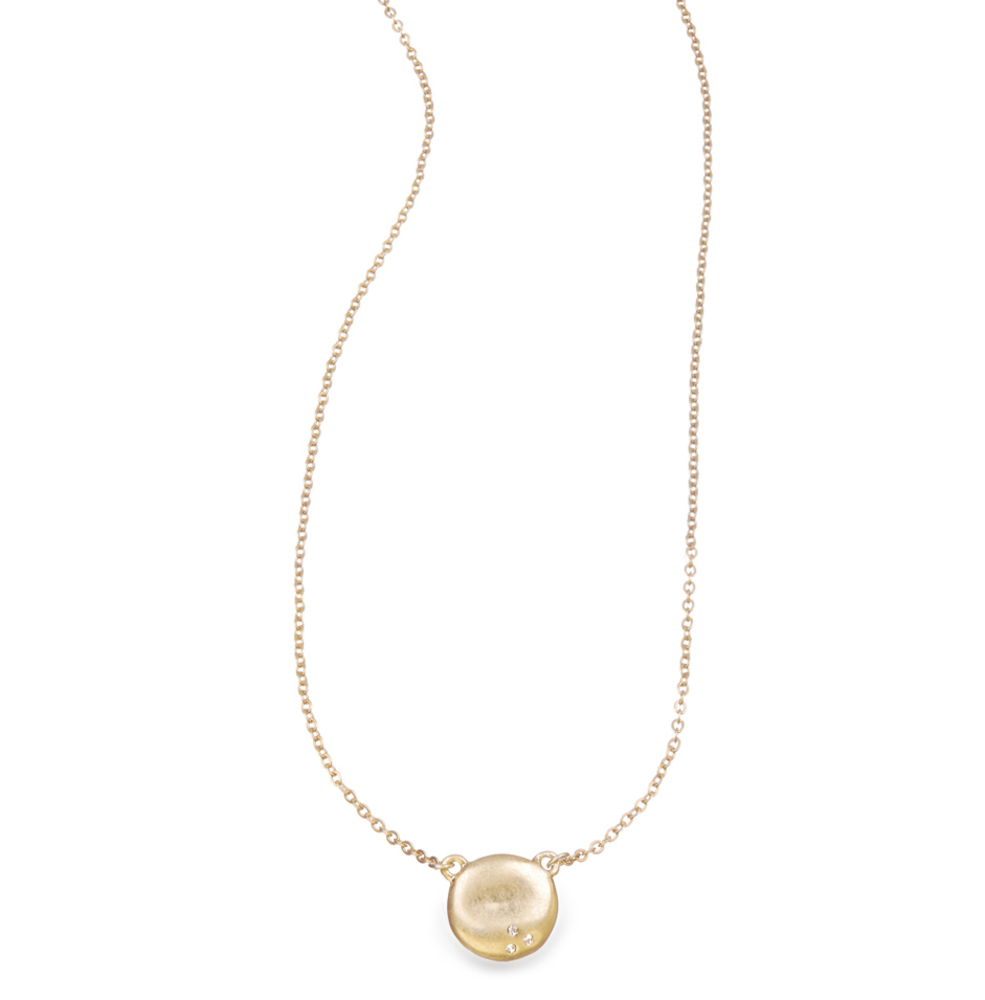 Sculpted Circle Pendant Necklace    $28