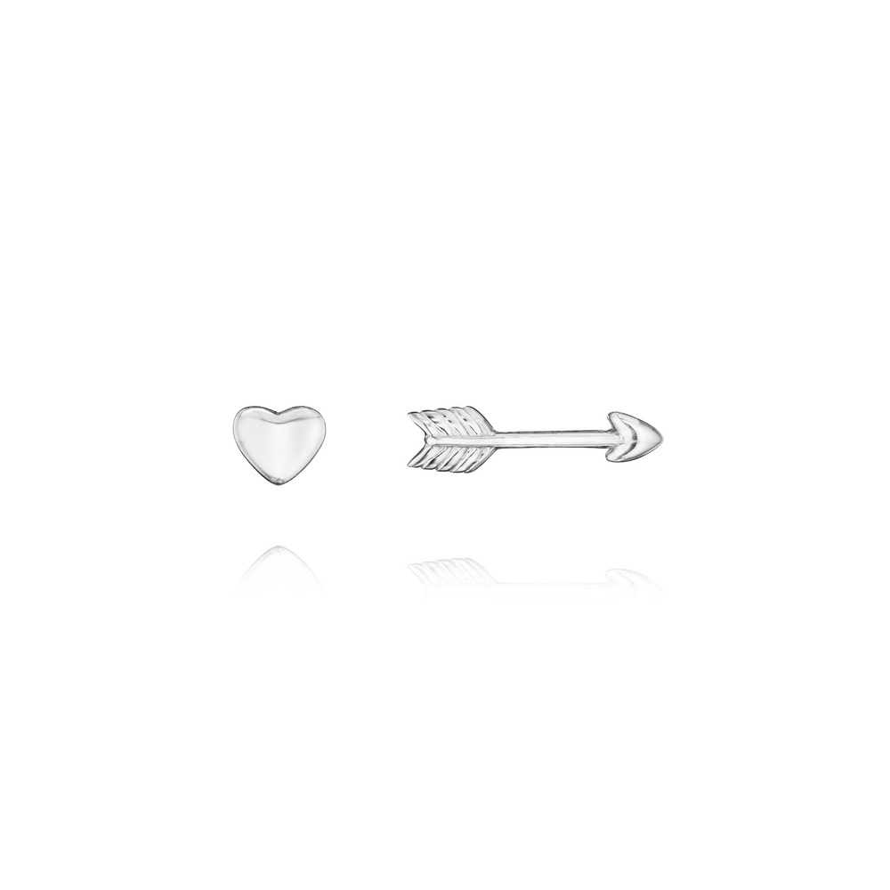 """And for the win!!! LOVE THESE!""""Be Mine"""" Sterling Mismatched Studs    $35"""