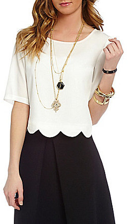 GB Scalloped Hem Top $44