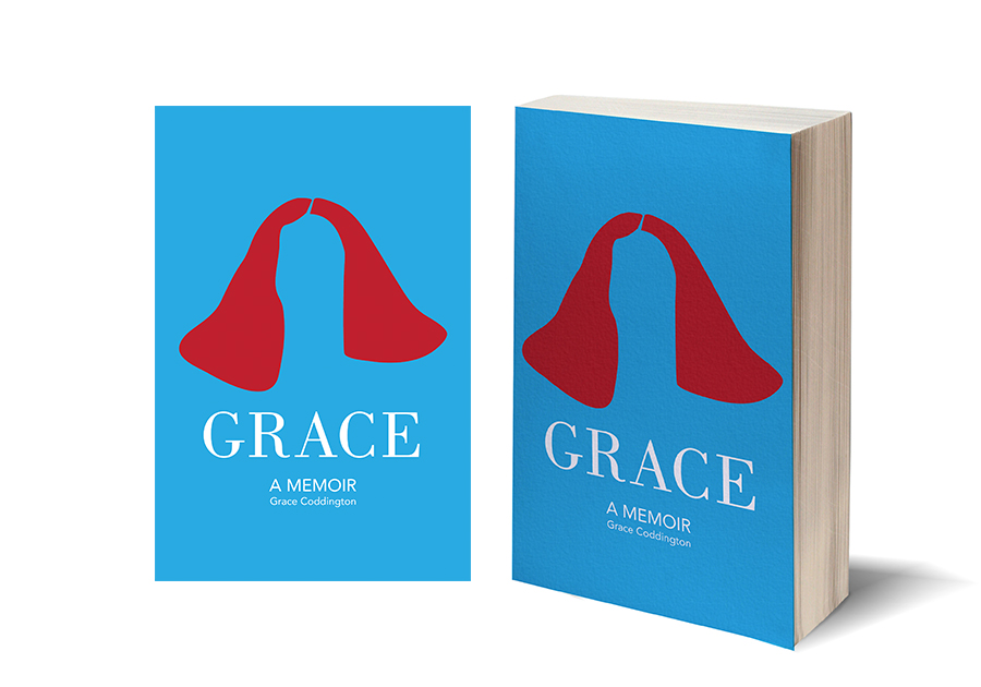 Book cover redesign for Grace Coddington's memoir. Coddington is known for her hair, and I've used that as a symbol for this minimalist cover.