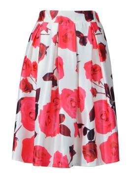 Red Rose Midi Skirt $16.90