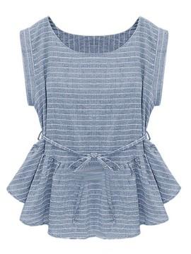 Light Blue peplum blouse $13.90