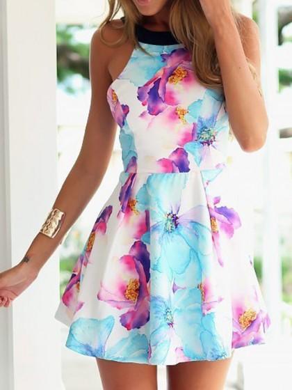 Floral Backless Dress $16.90