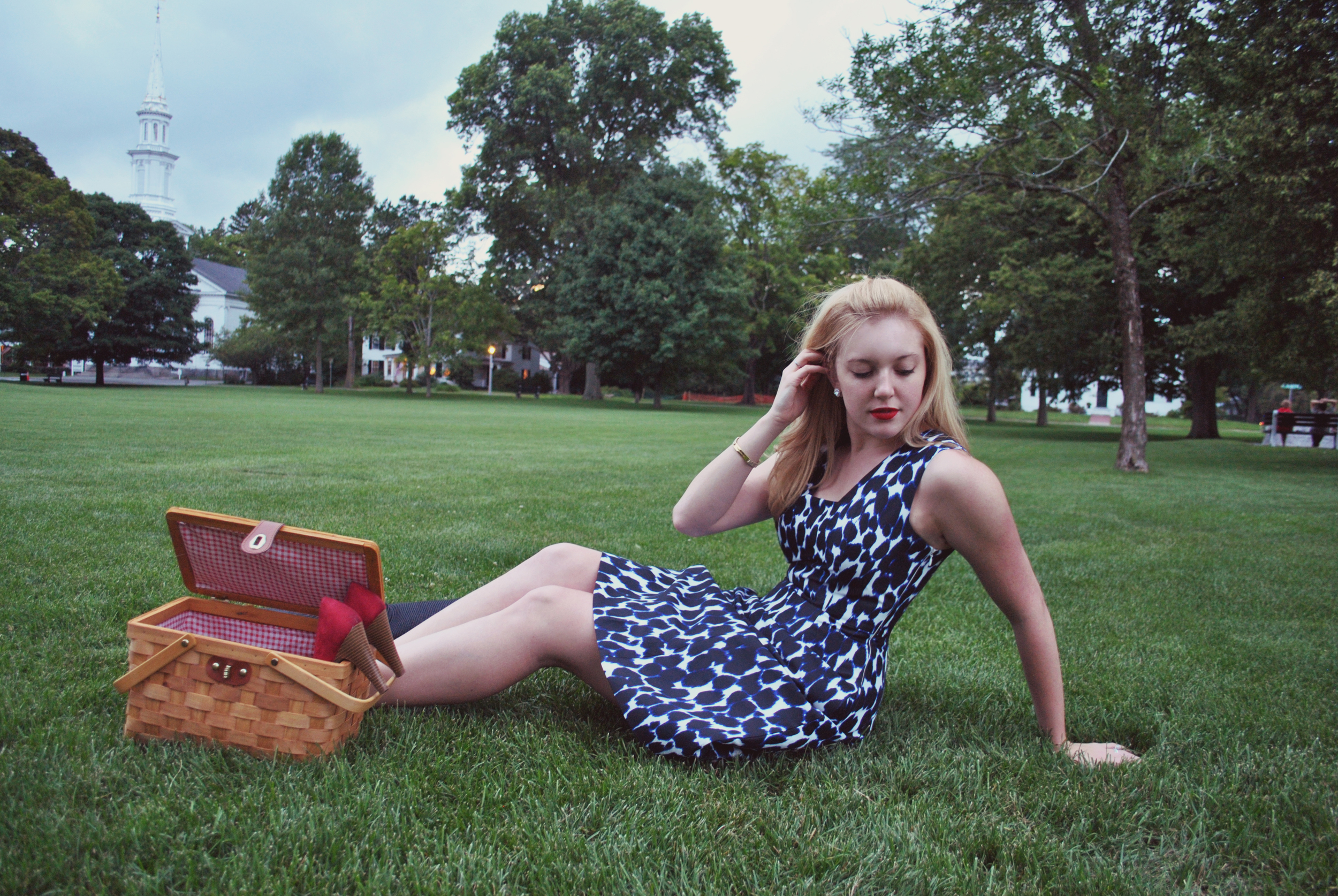 Lexington leopard // picnic style // leopard // blue and black // thoughtfulwish