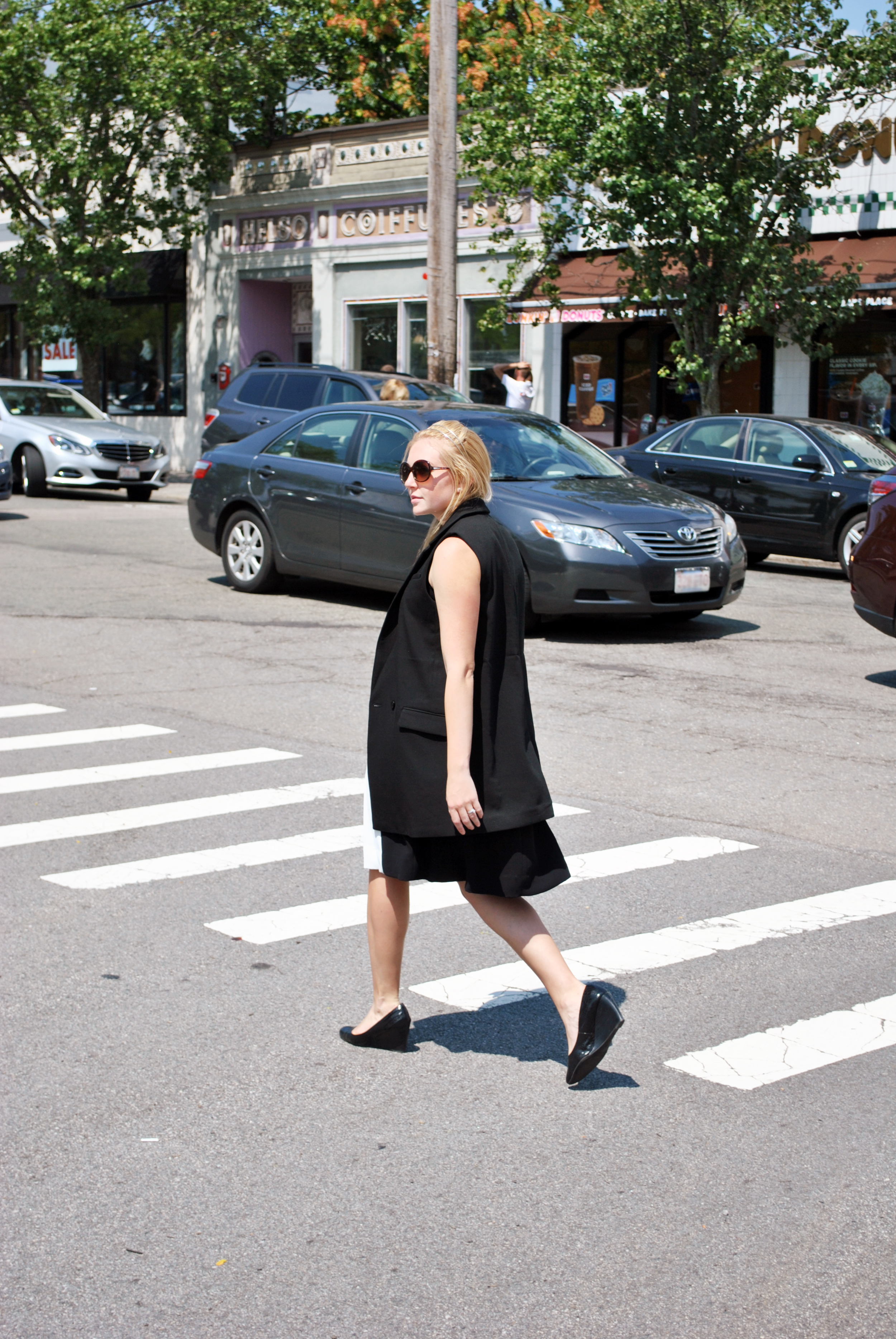 kate spade // color block dress // pink // black // preppy outfit // new england style // boston style // newton   thoughtfulwish